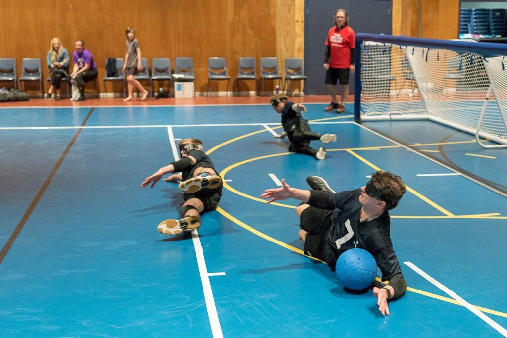 Goalball in action