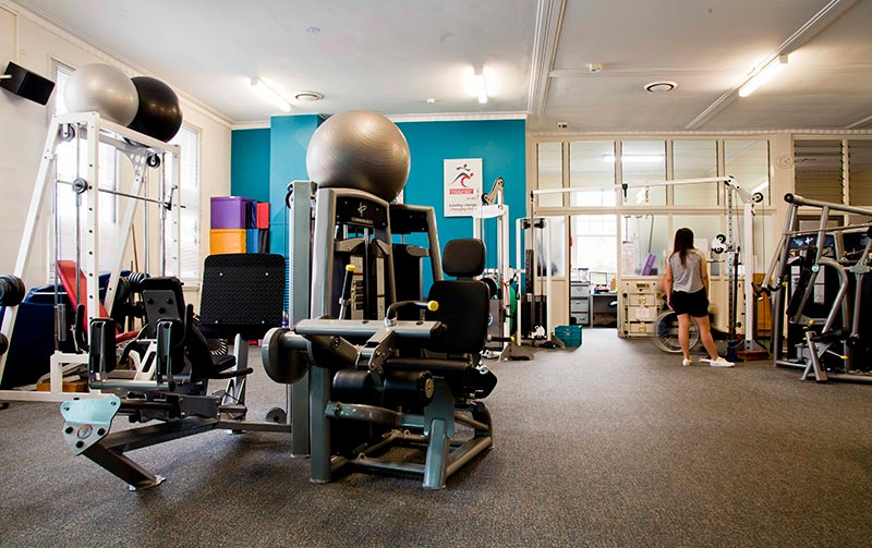 Health and fitness centre equipment