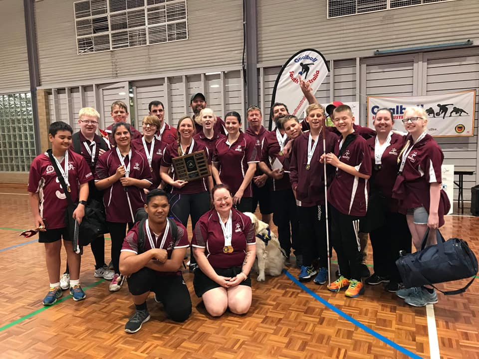 Queensland takes home championship shield at 2019 Australian Goalball Championships!