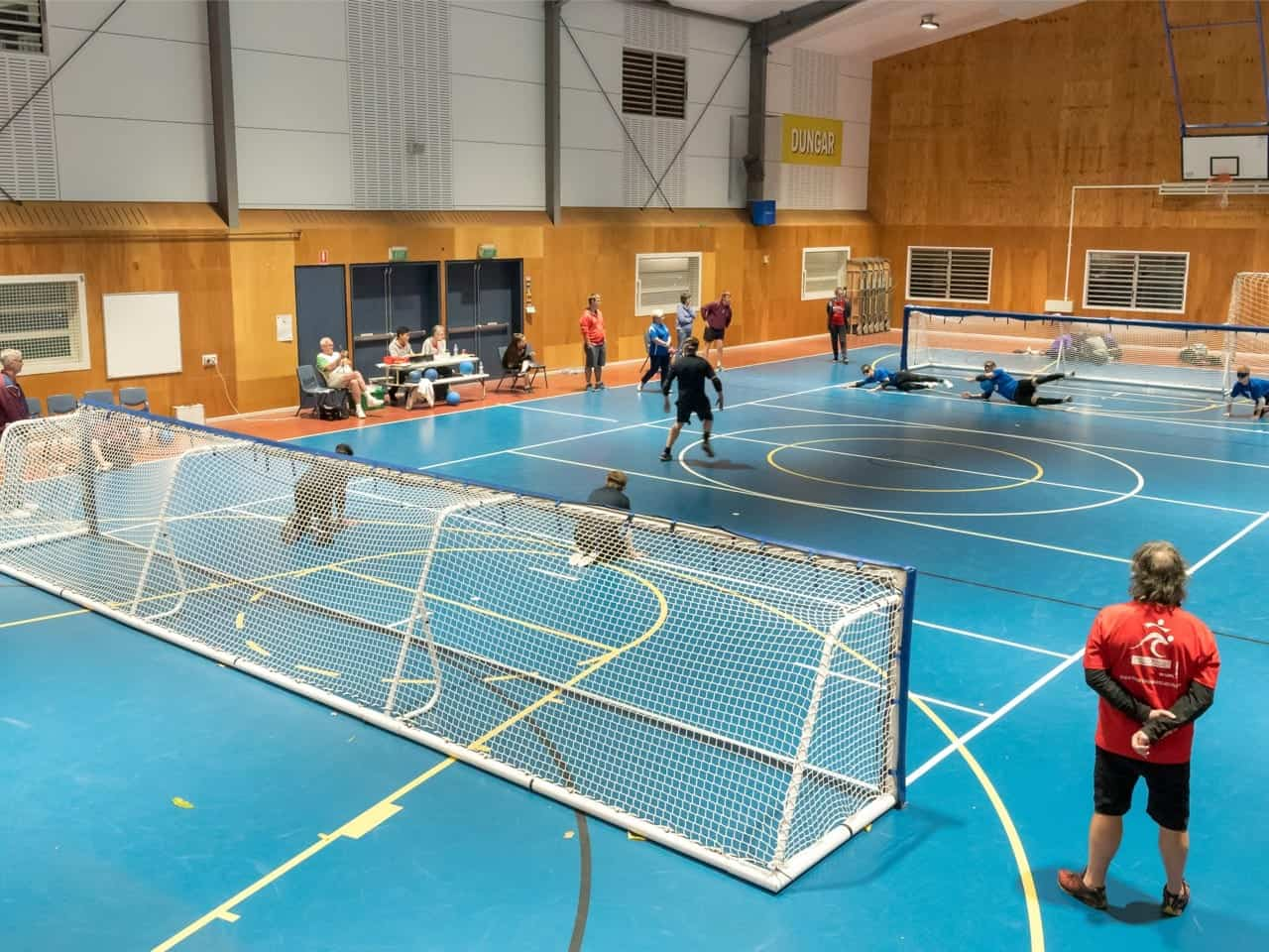 A game of the Paralympic sport of Goalball